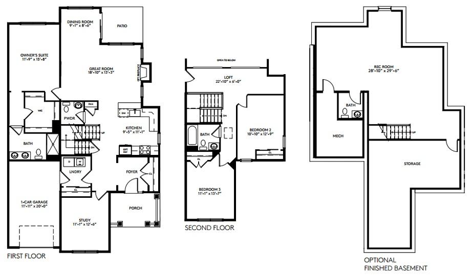 River ridge at hyde park floor plans for Hyde homes floor plans